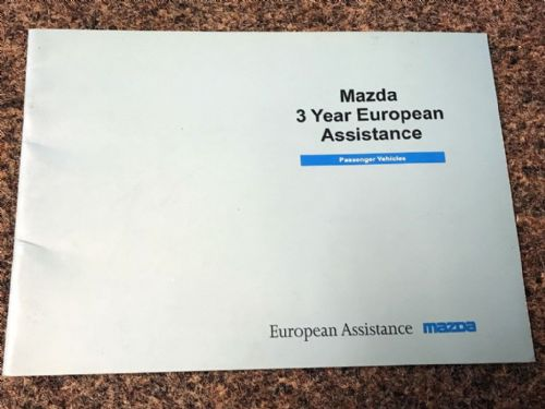 Service book European Assistance, Mazda MX-5 mk1, 1996, MCAG2064, USED